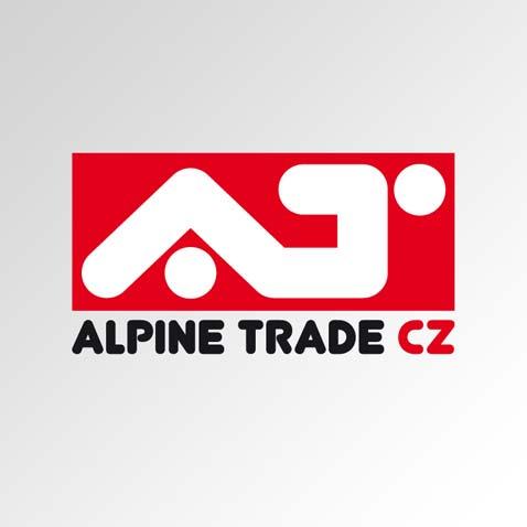 Logotyp obchodní společnosti se sportovními potřebami • Klient: ALPINE TRADE CZ, s.r.o.