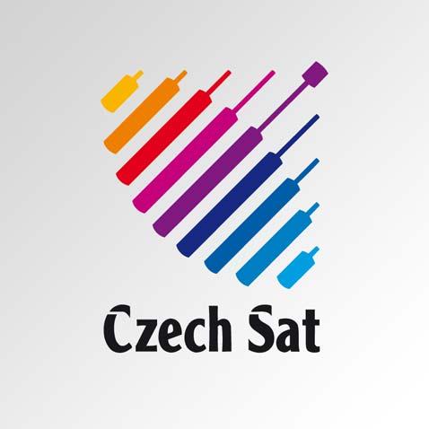 Značka společnosti pro satelitní vysílání • Klient: Czech Sat, a.s.