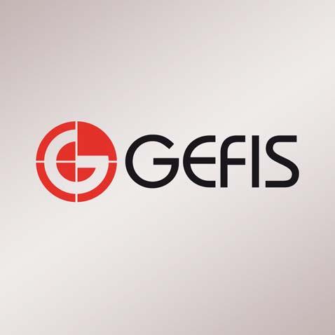 Logotyp společnosti – geodetické služby • Klient: Gefis
