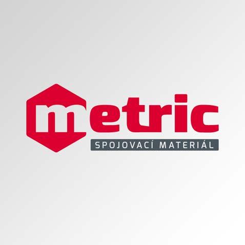 Logotyp společnosti – obchod spojovacím materiálem • Klient: METRIC SM s.r.o.